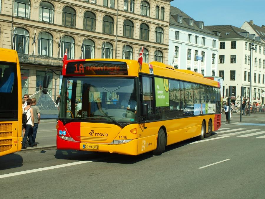 Arriva 1146/CG94345 på Kongens Nytorv i København den 26. maj 2012