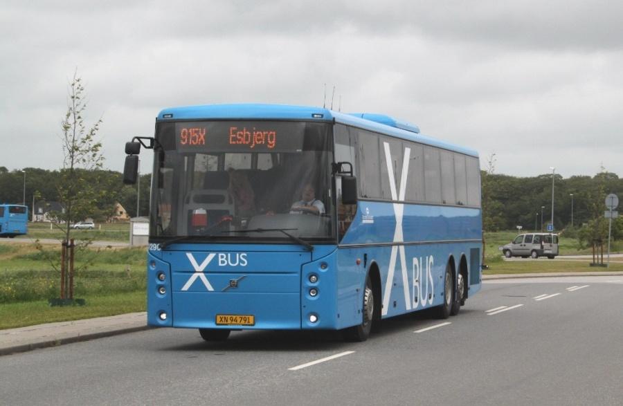 Rutebilselskabet Haderslev 1290/XN94791 i Ribe den 17. juni 2012