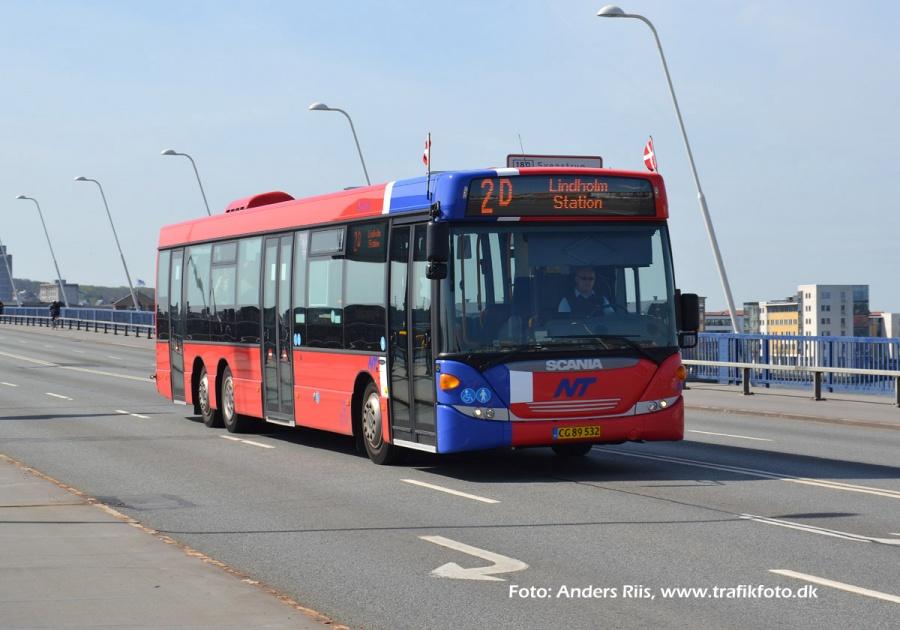 Arriva 3067/CG89532 på Limfjordsbroen i Aalborg den 1. maj 2012