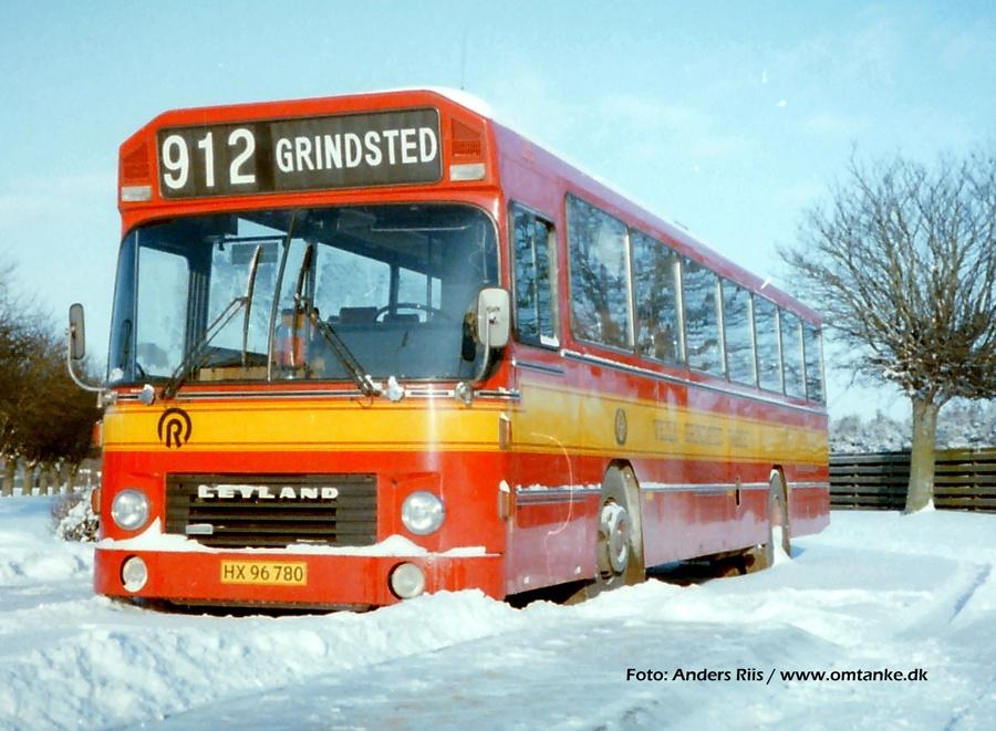 Vejle-Grindsted-Varde 10/HX96780 på Grindsted rtb. i februar 1985