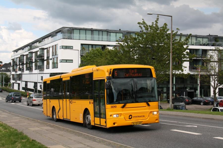 Arriva 3010/XJ95169 i Fredericiagade i Kolding den 22. juni 2012