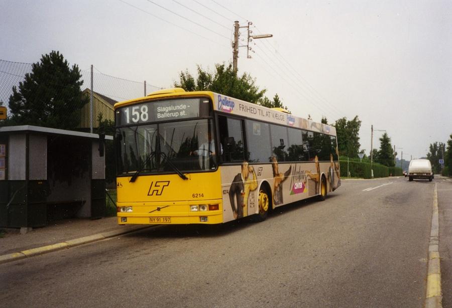 Linjebus 6214/NY91197 i Slagslunde i juni 1996