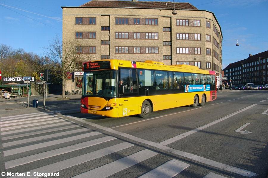 Arriva 1530/TX92569 på Frederikssundsvej i Brønshøj den 17. november 2005