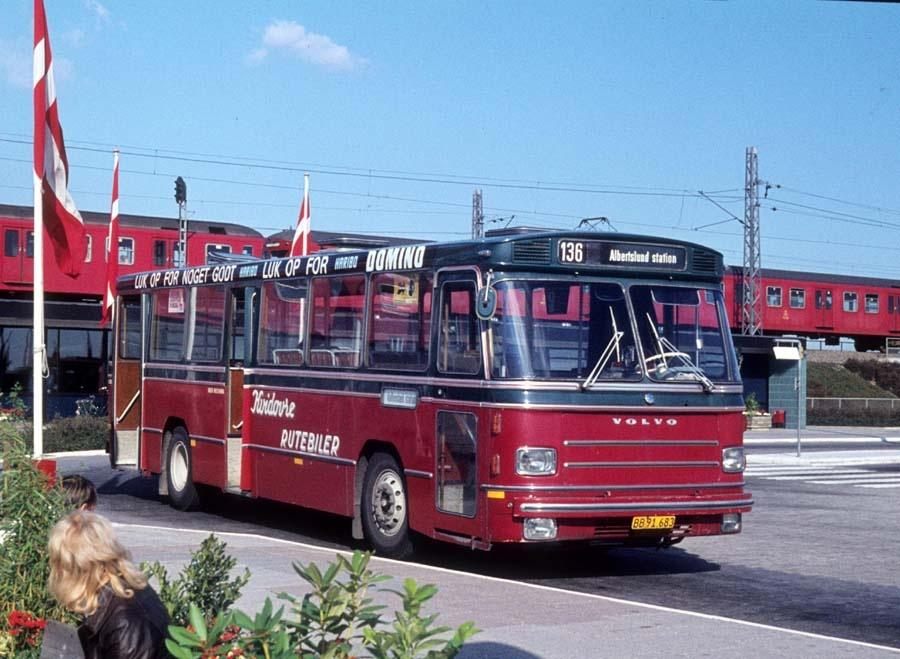 Hvidovre Rutebiler 62/BB91683 ved Vallensbæk st. den 25. september 1976