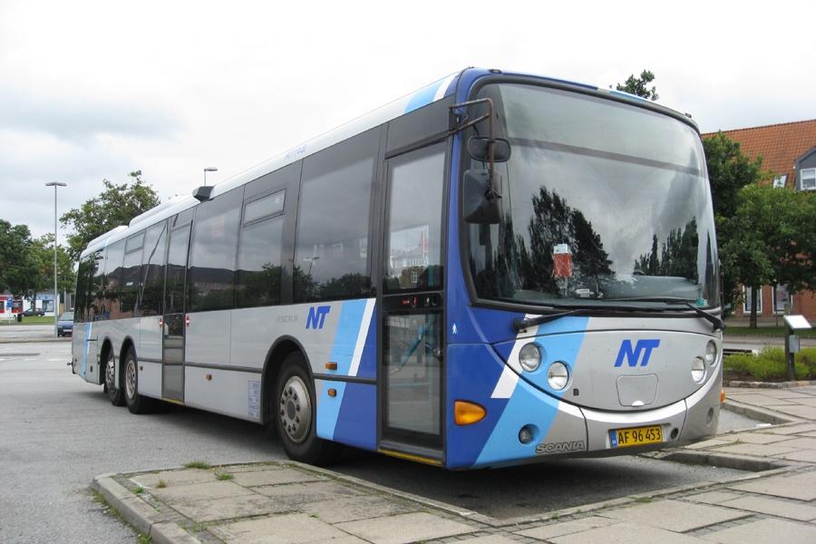 Arriva 3016/AF96453 i Brønderslev den 2. september 2012