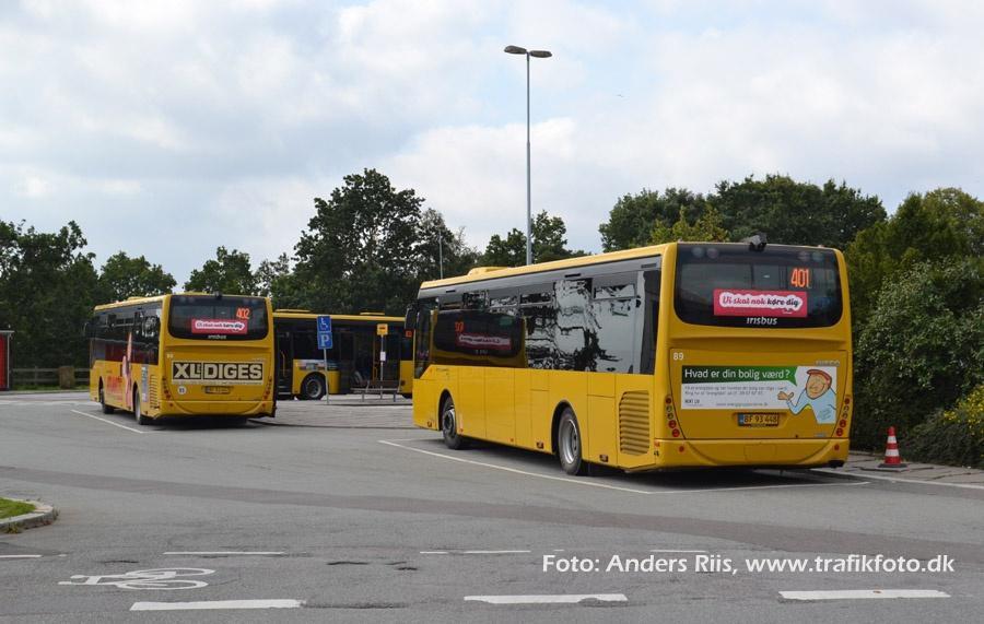 De Blaa Busser 88/BF93447 og 89/BF93448 i Skive den 10. september 2012