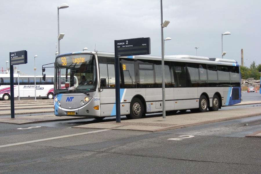 Arriva 3014/AF96451 i Aalborg den 18. september 2012