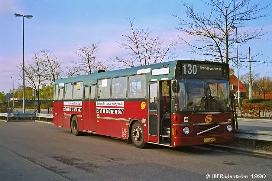 Linjebus 8339/LP94496 ved Glostrup st. i 1990