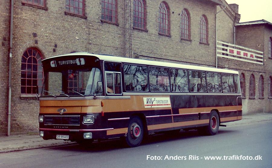 Villys Turistbusser DR99402 i Aalborg i 1987