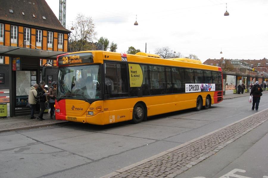 Arriva 1521/TX92487 ved Hovedbanegården i København den 25. oktober 2012