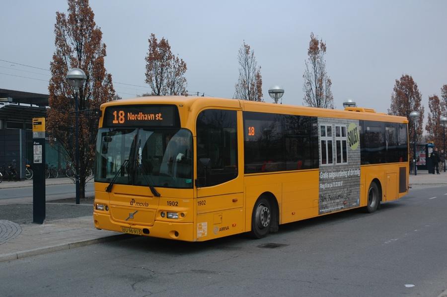 Arriva 1902/UU96913 ved Friheden st. i Hvidovre den 13. november 2012