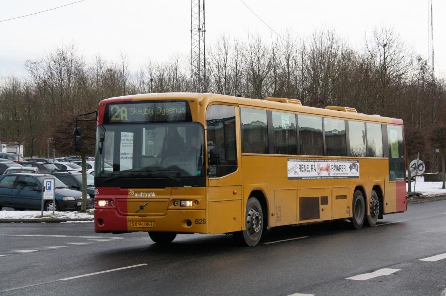 Århus Sporveje 628/SX94083 ved Skejby Sygehus den 13. februar 2012