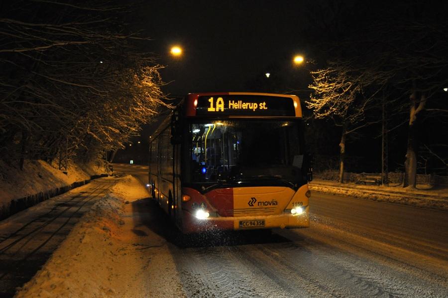 Arriva 1159/CG94358 på Vigerslev Allé i Valby den 9. december 2012