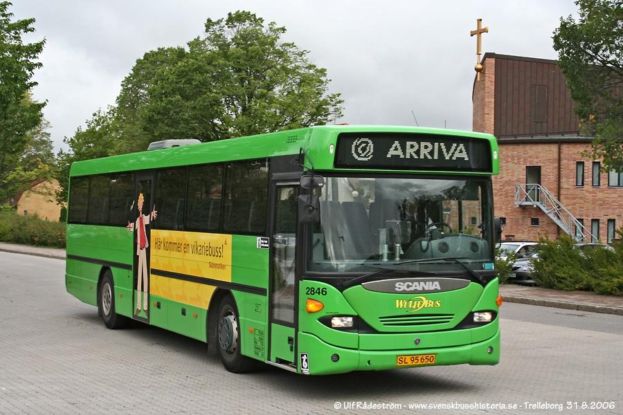 Arriva 2846/SL95650 i Trelleborg i Sverige den 31. august 2006