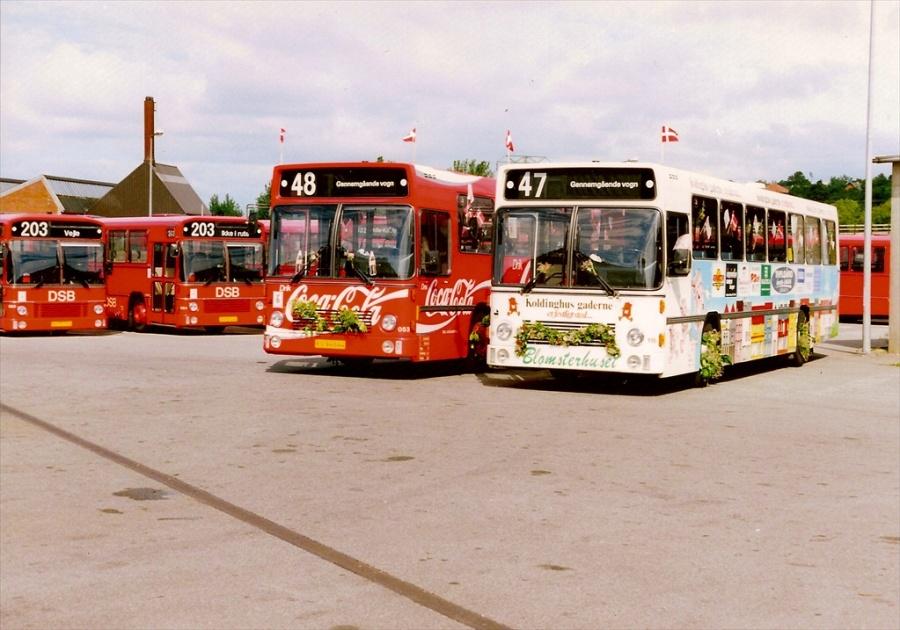 DSB 053/KV94644 og 116/LM90659 i garagen i Kolding i oktober 1991