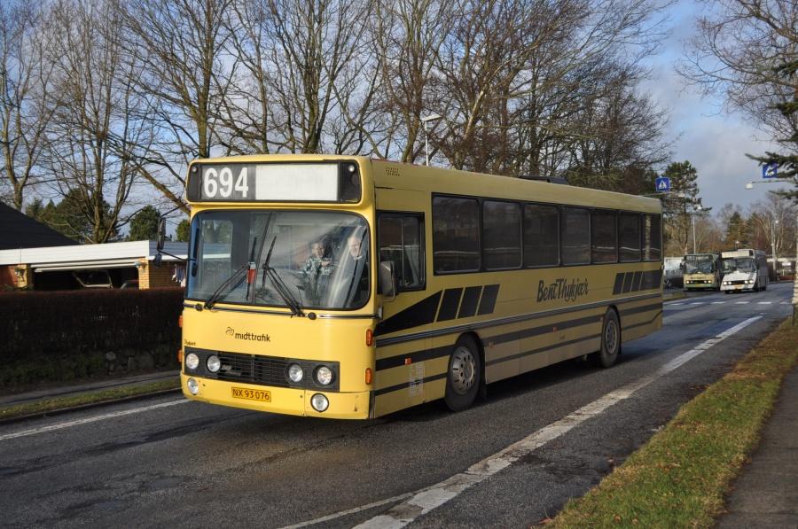 Bent Thykjær 103/NX93076 på Øster Ringgade ved Hedensted Skole den 3. januar 2013