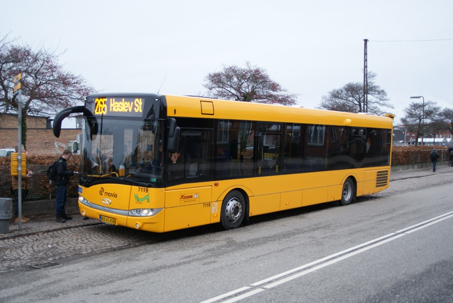 Kruse 7119/AB43458 ved Haslev st. den 7. januar 2013