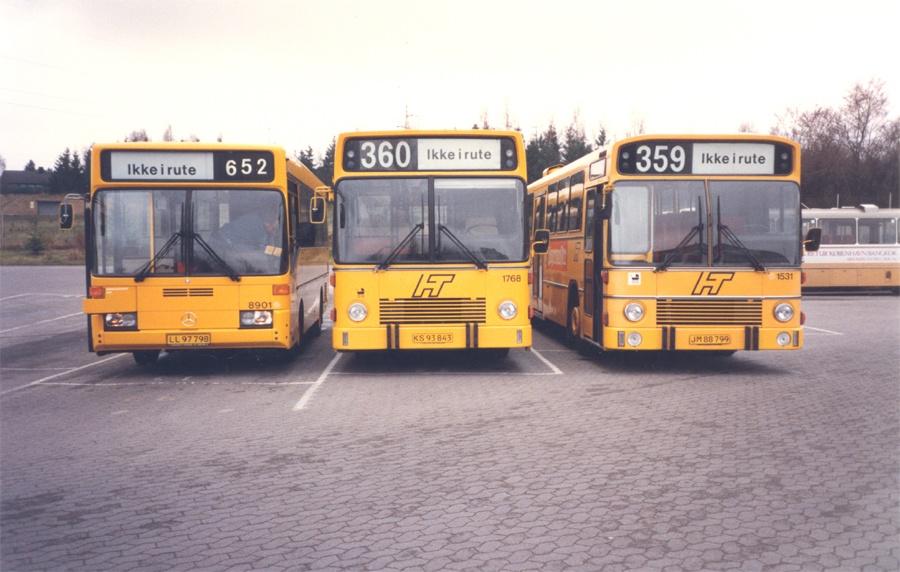 HT 8901/LL97798, 1768/KS93843 og 1531/JM88799 i Frederikssund garage