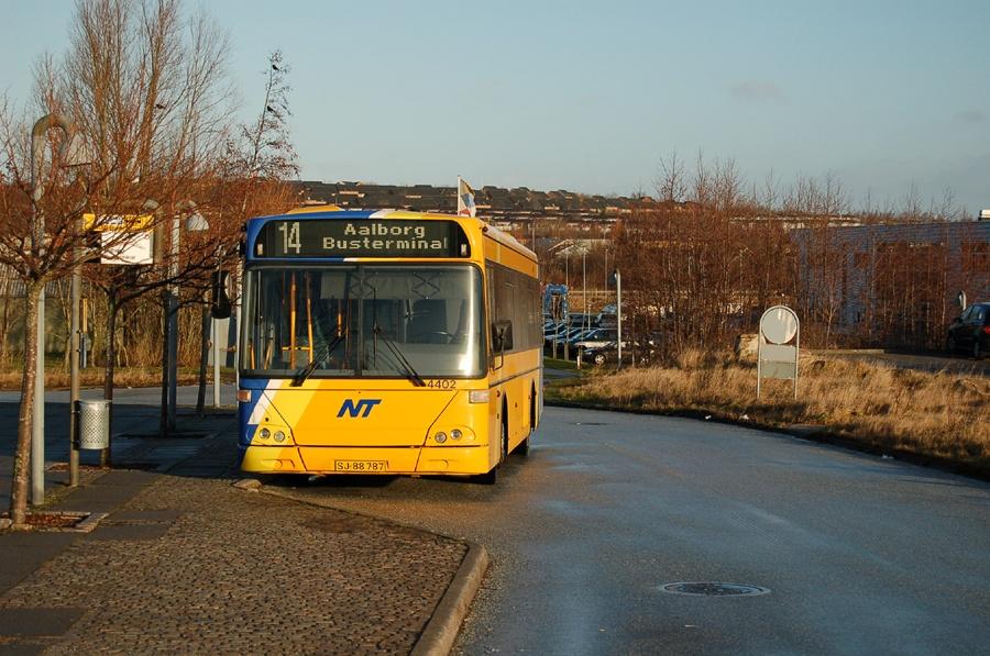 Arriva 4402/SJ88787 ved Aalborg Universitet den 21. januar 2008