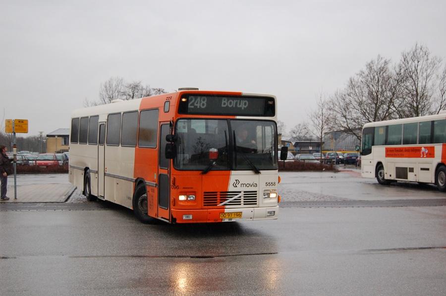 Arriva 5558/OD97196 i Ringsted den 23. januar 2008