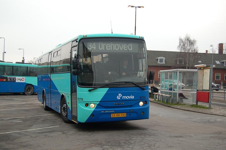 Arriva 5756/SX88393 i Nykøbing F. den 8. februar 2008
