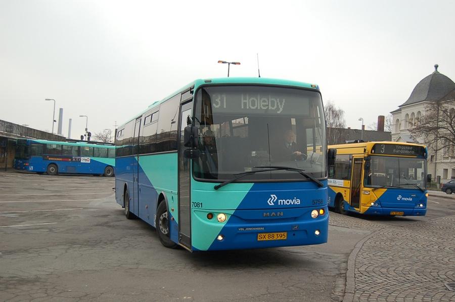 Arriva 5758/SX88395 i Nykøbing F. den 8. februar 2008