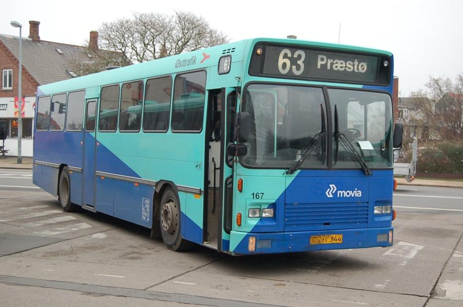 Østtrafik 167/OE91344 i Vordingborg den 8. februar 2008