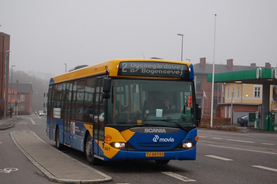 Arriva 5741/TJ88593 i Næstved den 8. februar 2008