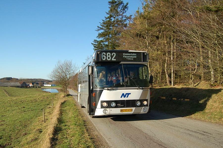 Burskovs Rutebiler NU93419 nær Flauenskjold den 13. februar 2008