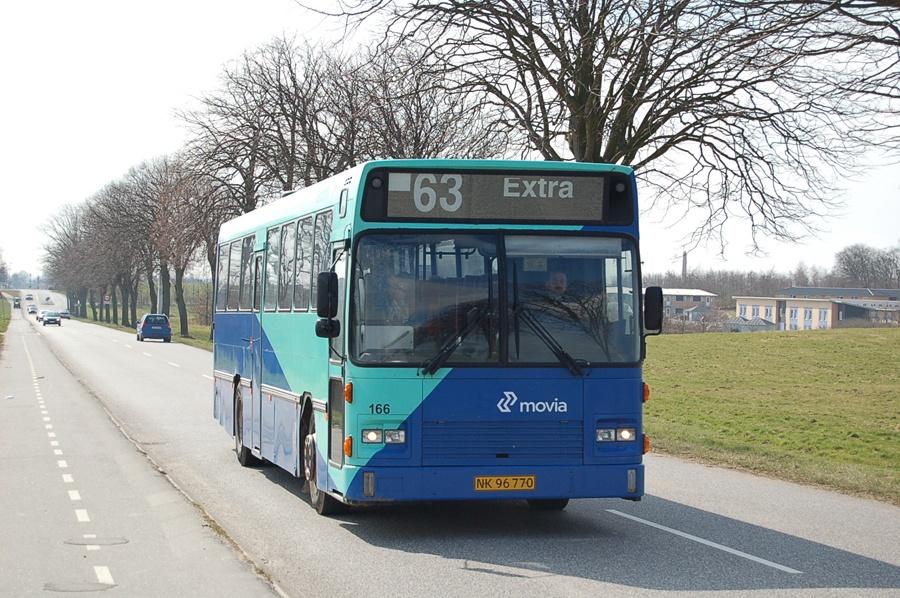 Østtrafik 166/NK96770 i Vordingborg den 2. april 2008