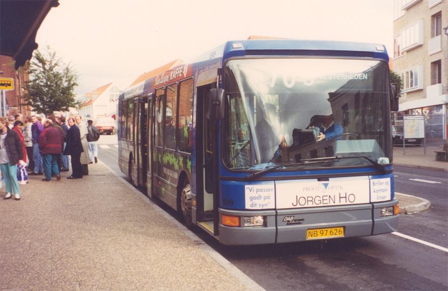 Pan Bus 199/NB97626 ved Trappetorvet i Viborg