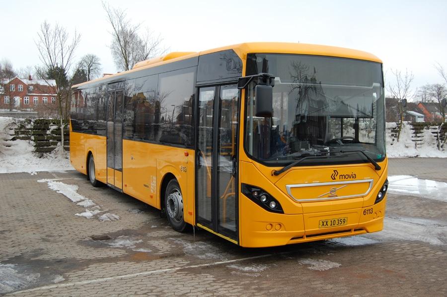 Nobina 6113/XX10359 i Næstved den 13. februar 2013