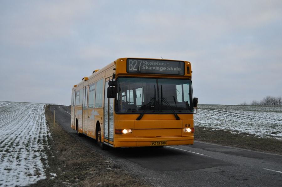 Arriva 1718/PZ95500 ved Strølille den 20. februar 2013