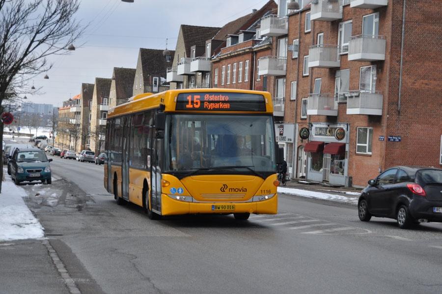 Arriva 1116/BW90016 på Peter Bangs Vej på Frederiksberg den 14. marts 2013