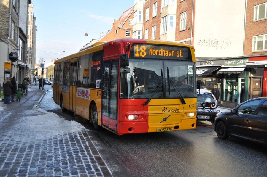 Arriva 1327/VN92396 på Valby Langgade i Valby den 14. marts 2013