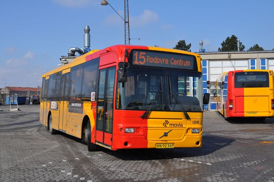 Arriva 1316/VN92347 i Ryvang garage i København den 14. marts 2013