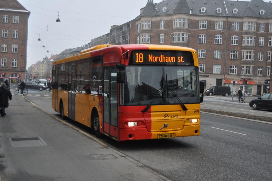 Arriva 1973/XN90831 på Jagtvej i København den 15. marts 2013