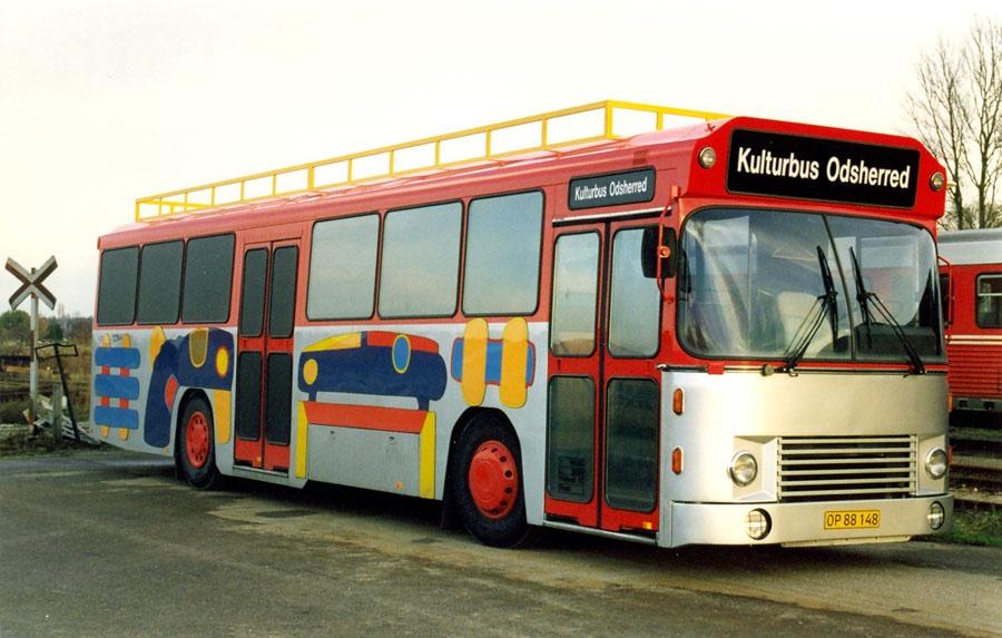 Kulturbus Odsherred OP88148 ved Nykøbing Sj. st. den 16. november 1997