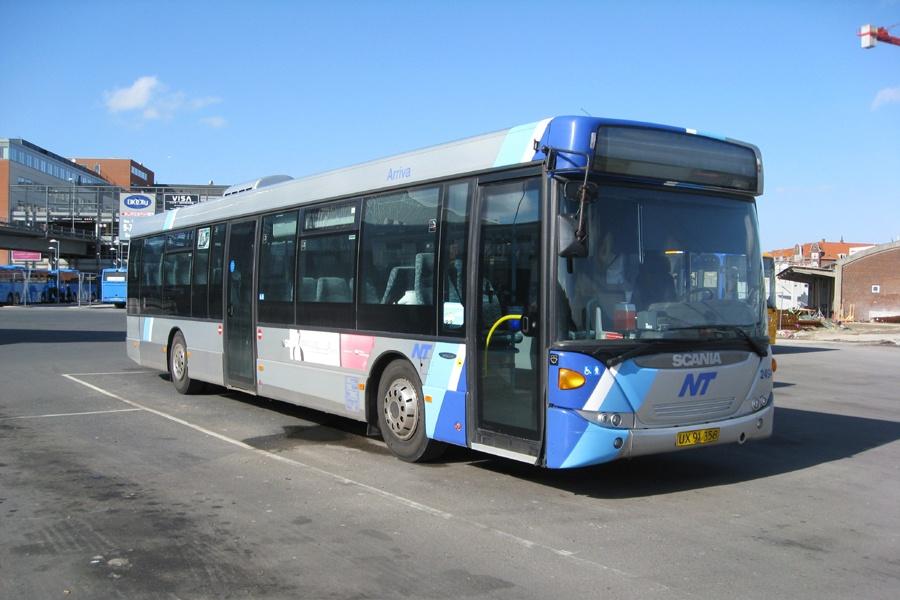 Arriva 2494/UX91358 i Aalborg den 15. april 2013