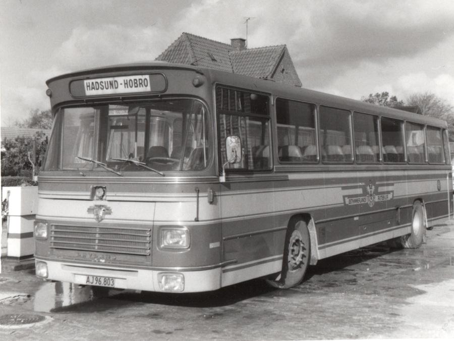 Østhimmerlands Rutebiler AJ96803 i Als i 1980