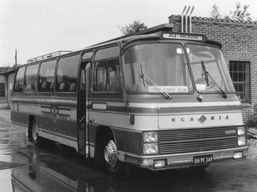 Østhimmerlands Rutebiler BN99349 i Als i 1980