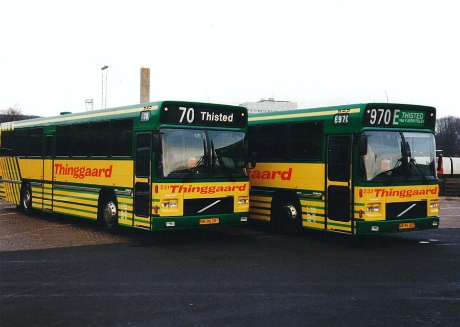 Thinggaard 231/NR96201 og 202/NR96202 på Aalborg rtb. i april 1994
