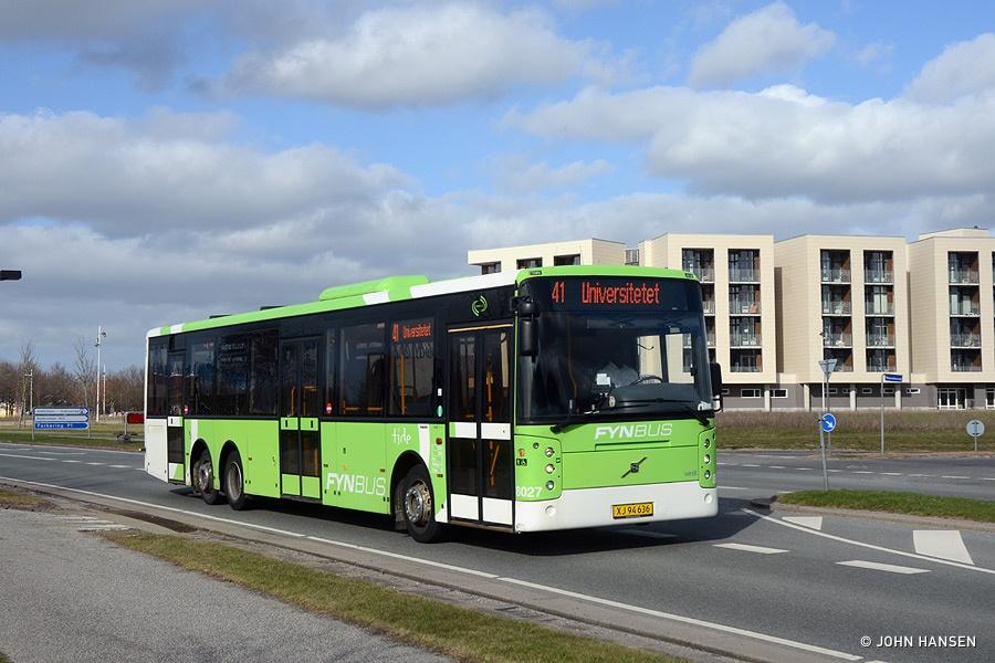 Tide Bus 8027/XJ94636 på Campusvej i Odense den 19. april 2013