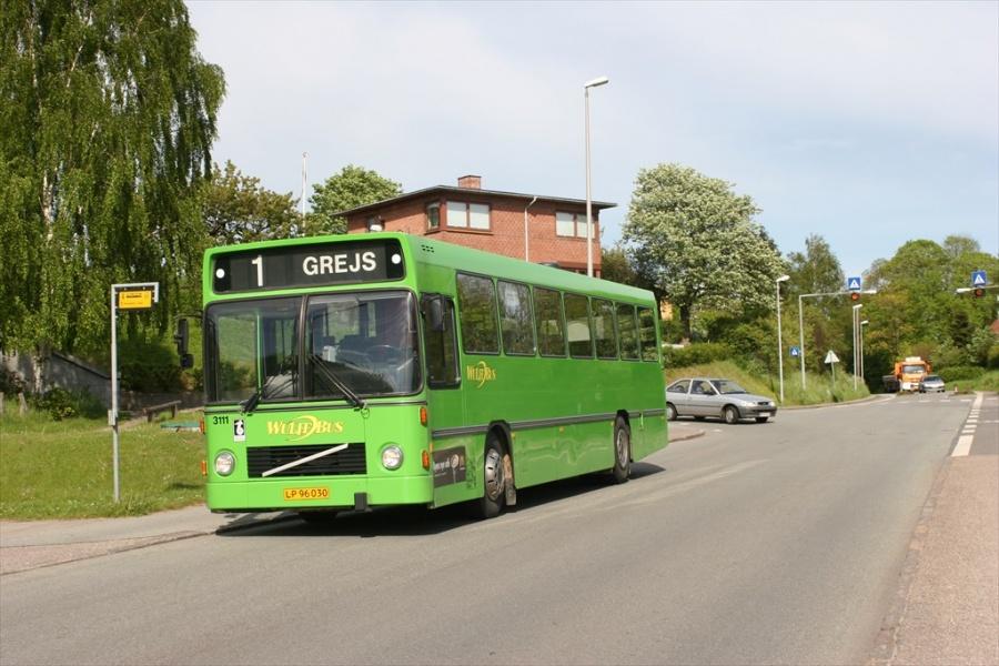 Wulff Bus 3111/LP96030 på Strandvejen i Vejle den 23. maj 2005