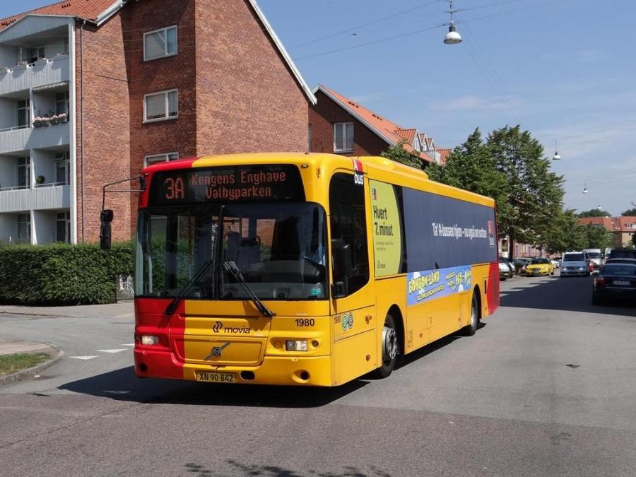 Arriva 1980/XN90842 på Hammelstrupvej i København den 28. juli 2013