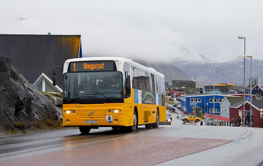 Nuup Bussii 10/GR48555 i Nuuk i Grønland den 10. september 2013