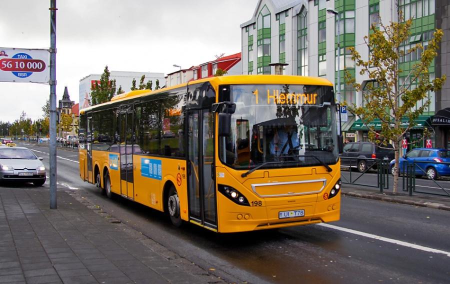 Strætó 198/UIT78 i Reykjavik i Island den 12. september 2013