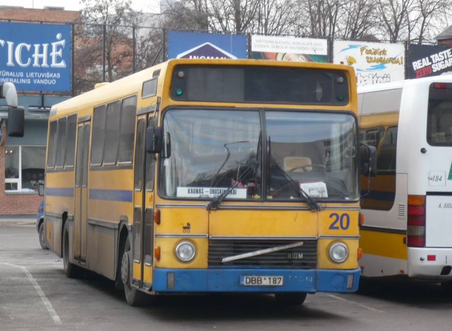 Druskininkai Autobus Park 20/DBB187 i Kaunas, Litauen den 29. december 2008
