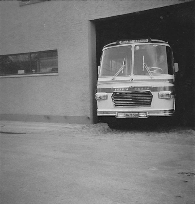Mejlby Rute- og Turistbusser XA78528 ved Ørum P i Herning i 1966