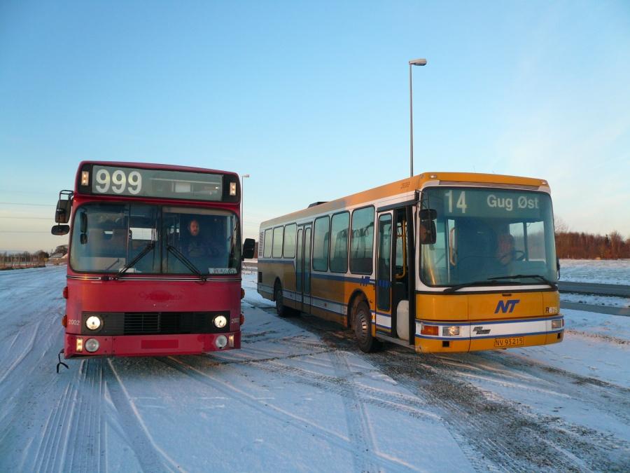 Ex. Connex 2002 & Ex. City-Trafik 675 i Roskilde den 25. januar 2007